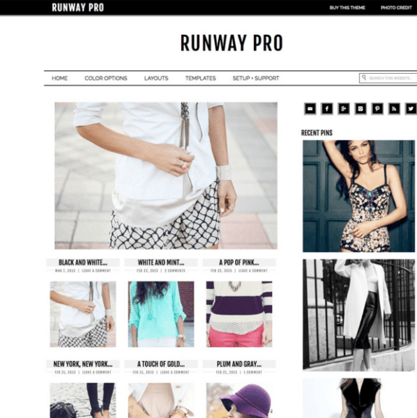 Runway Pro – A WordPress blog theme