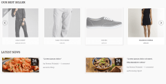 Sant Cruz- Front page featuring product slider and latest news using widgets