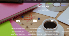 Services offered by Parallax theme