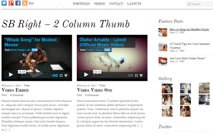 Simfo- 2 column thumb with right sidebar for blog