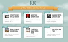 Sky- Blog page of this theme with grid view