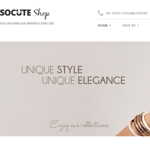 SoCute- A minimal responsive WordPress theme