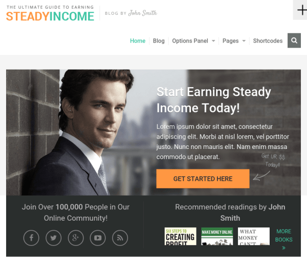 SteadyIncome – WordPress Theme