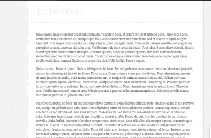Testimonial page of DailyNotes theme