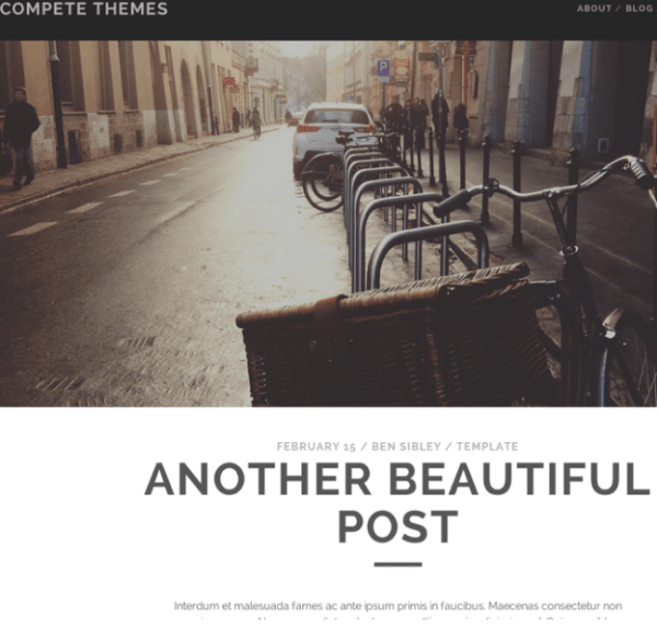 Tracks WP theme