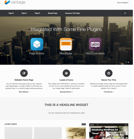 Vantage is a flexible multipurpose theme
