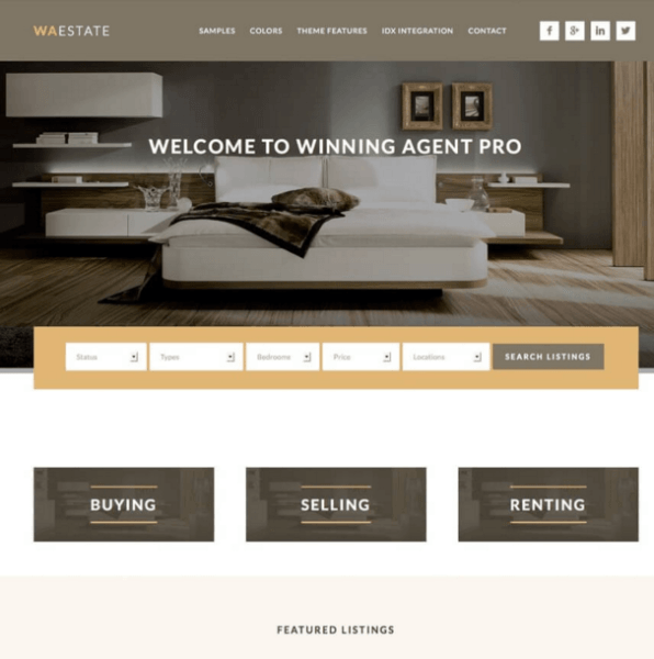 Winning Agent – Real Estate WordPress theme
