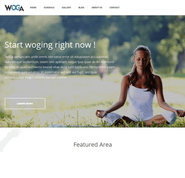 Woga - Responsive Yoga WordPress theme