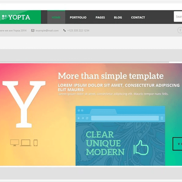Yopta - Creative WordPress Theme