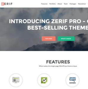 Zerif Pro - Parallax Business WordPress theme