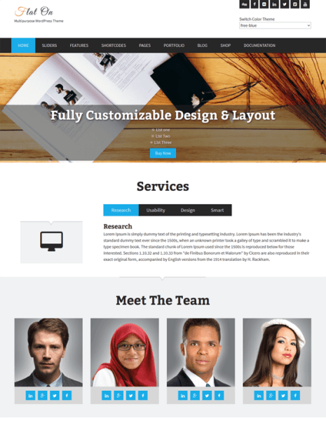 flaton-WordPress-Theme-Responsive-layout