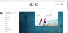 menu-Globe-Theme-WordPress