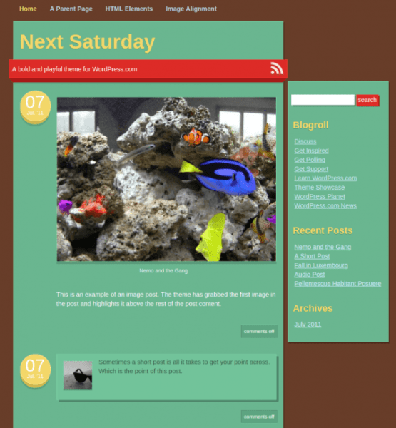 next-saturday-WordPress-theme