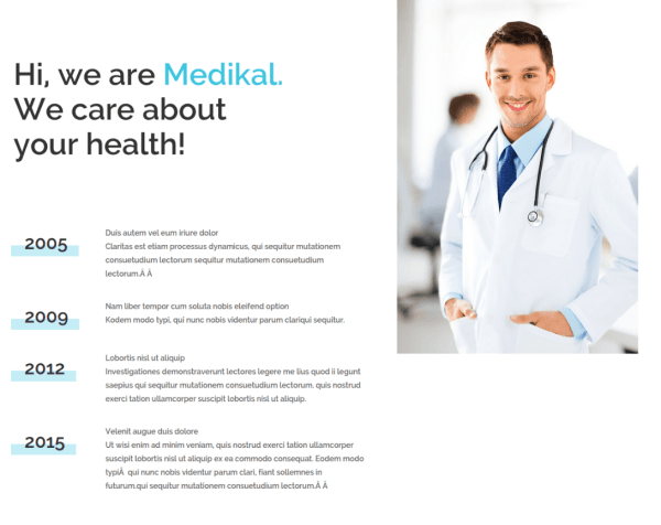About Us Page of Medical