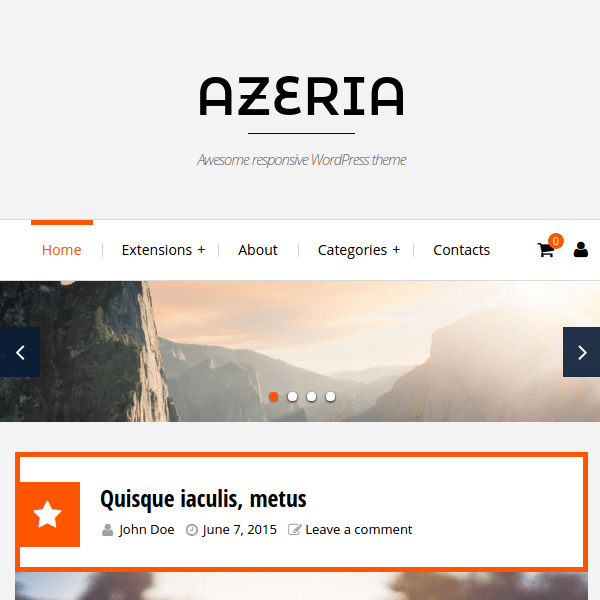 Azeria Responsive WordPress Theme