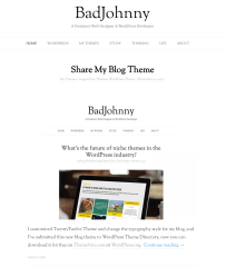 BadJohnny- Front page featuring posts with featured image
