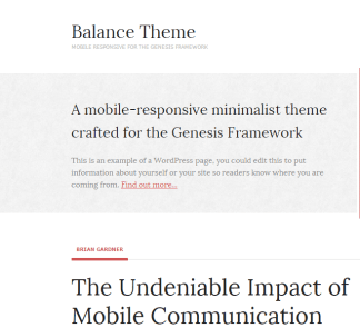 Balance theme- A WordPress theme for Magazines and blog