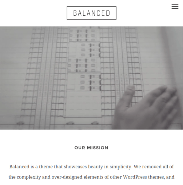 Balanced- A multipurpose WordPress theme for small business and freelancers