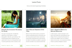 Blog layout of StartPoint theme
