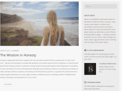 Blog page of Album theme