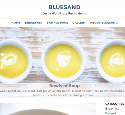 Bluesand- A blogging WordPress theme