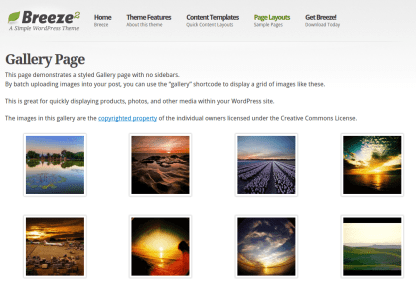 Breeze Gallery Page