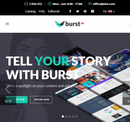 Burst- A responsive Multipurpose WordPress theme