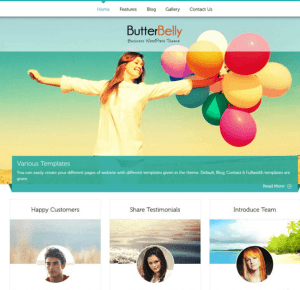 ButterBelly -Business WordPress theme
