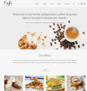 Cafe Elements - WordPress Restaurant theme