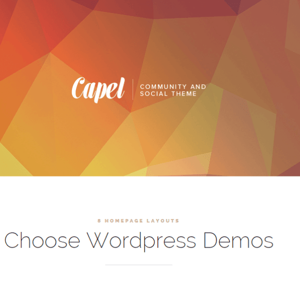 Capel – Multipurpose BuddyPress WordPress theme