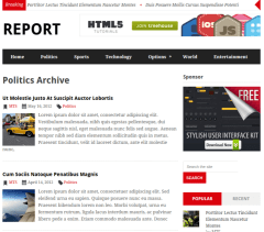 Category-Report-WordPress-theme