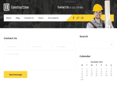 Contact Us of Constructzine theme