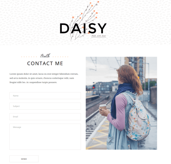 Daisy Contact Us Page