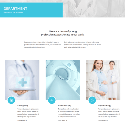 Department Page of Medical