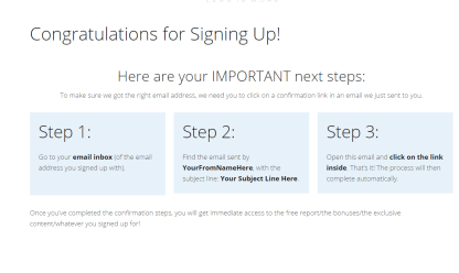 Email confirmation shortcode generated for Minus theme
