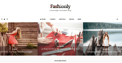 Fashionly Home Page