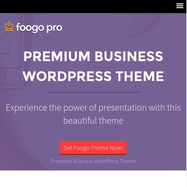 Foogo Pro WordPress Theme