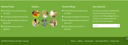 Footer section of StartPoint theme