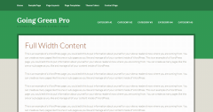 Going Green Pro- Fullwidth page layout