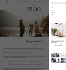 Grand Blog- Right side menu