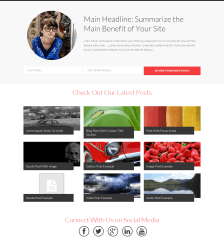 Homepage example of Squared theme