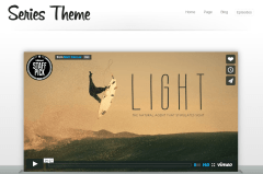 Homepage of Series theme