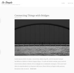Homepage of So simple theme