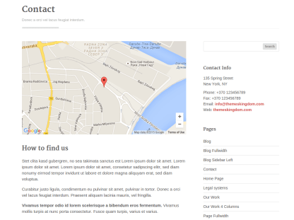 Legalized Contact Page