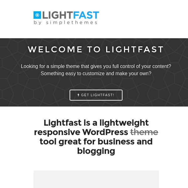 LightFast WordPress Theme