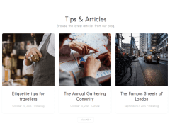 Listable Articles Section