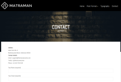 Matraman Lite Contact Page