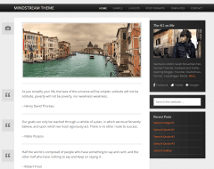 Mindstream- Front page of this theme