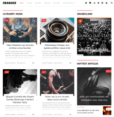 Music Page of Frances