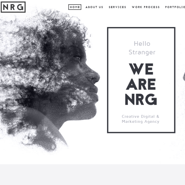 NRGagency- Creative One page WordPress theme for agency